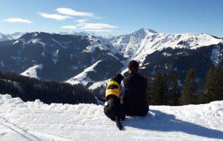 Skitour mit Hund,